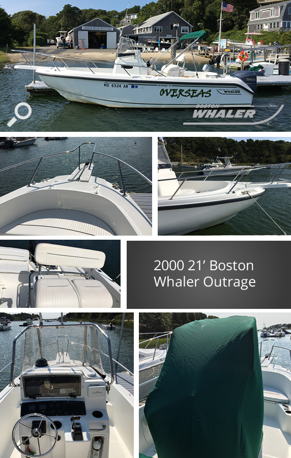 Oyster River Boat Yard - 2000 21' Boston Whaler Outrage Center